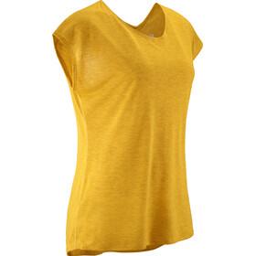 Salomon Comet T-shirt Femme, saffron